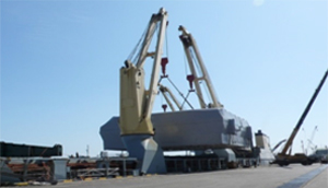 Desalination facility in the UAE DRY-TOWING